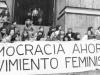 Primera manifestación feminista durante la dictadura, 1983.